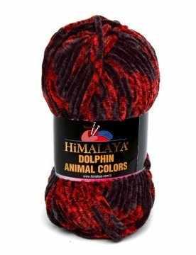 Пряжа Himalaya  Dolphin Animal Colors Цвет.83105 Черный-красный