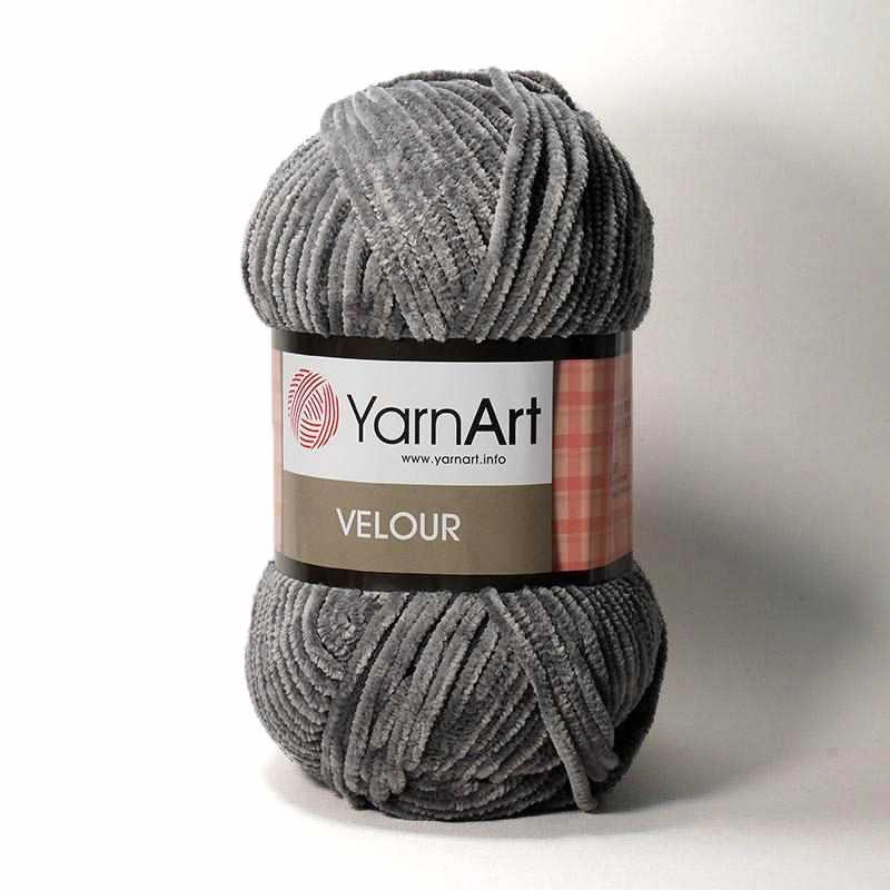 Пряжа YarnArt Velour Цвет. 858 Серый