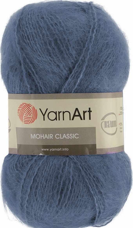 Пряжа YarnArt Mohair Classic Цвет.118 Графит