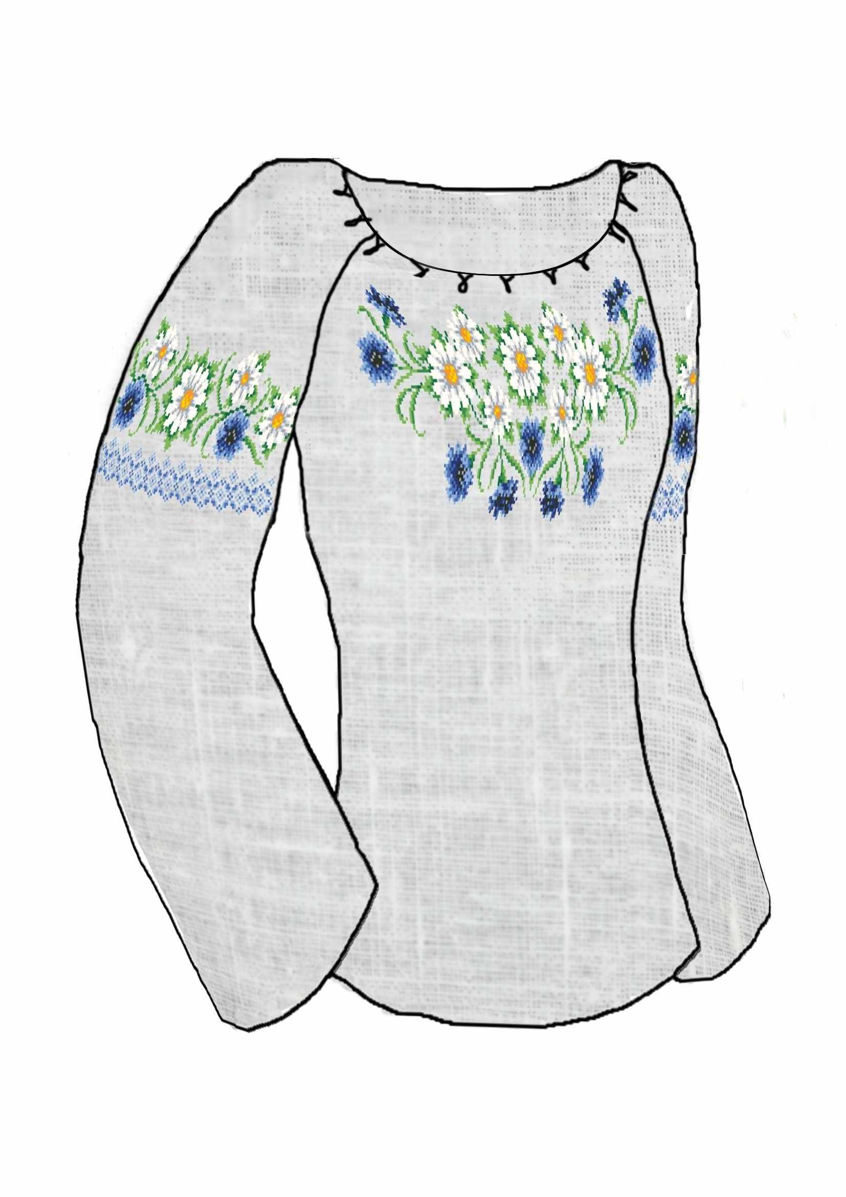КБСН/лен/-11 Крой 48-54 р Набор для вышивки сорочки (Каролинка)