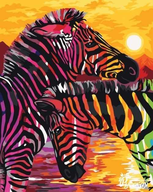 H069 Яркие зебры