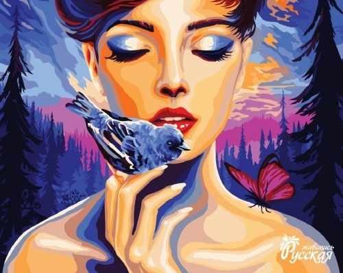 J026 Девушка и птица