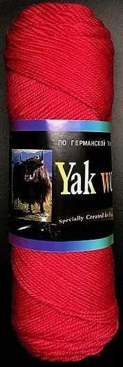 Пряжа Color City Yak Wool Цвет.2801 Брусника