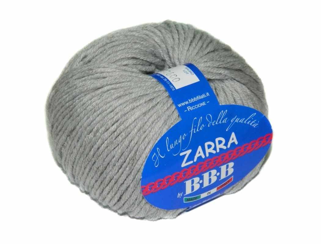 Пряжа BBB Filati  ZARRA Цвет.0302 Серый