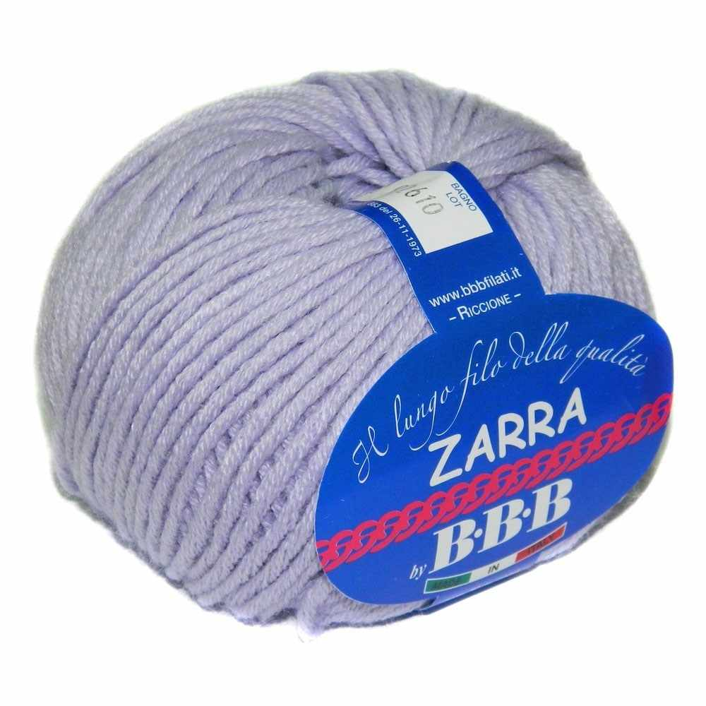 Пряжа BBB Filati ZARRA Цвет.8268 Бл.сирень