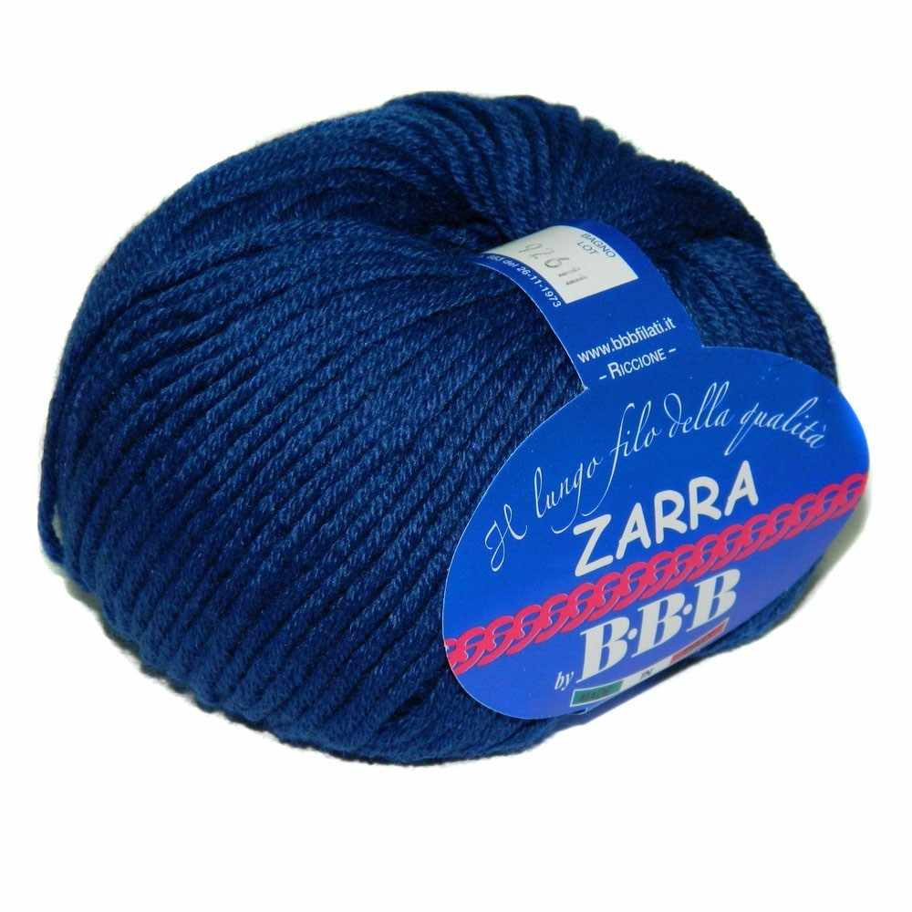 Пряжа BBB Filati ZARRA Цвет.9509 Т.Синий