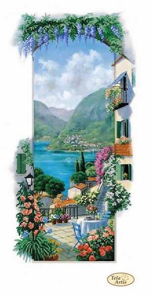 ТА-403 - Итальянские пейзажи. Сицилия - схема для вышивания (Tela Artis)