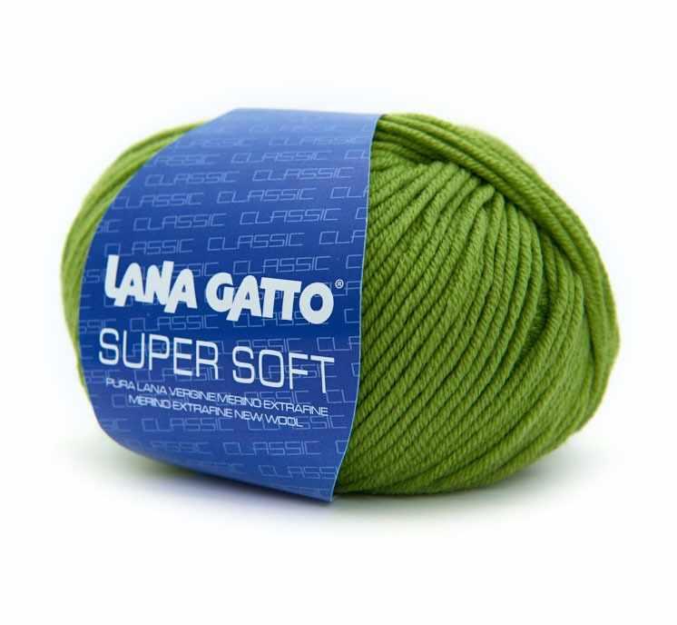 Пряжа Lana Gatto SUPER SOFT Цвет.13277 яр.желт.зелен.