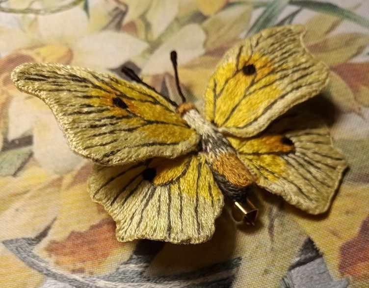 """Брошь бабочка """"Лимонница"""" - набор"""