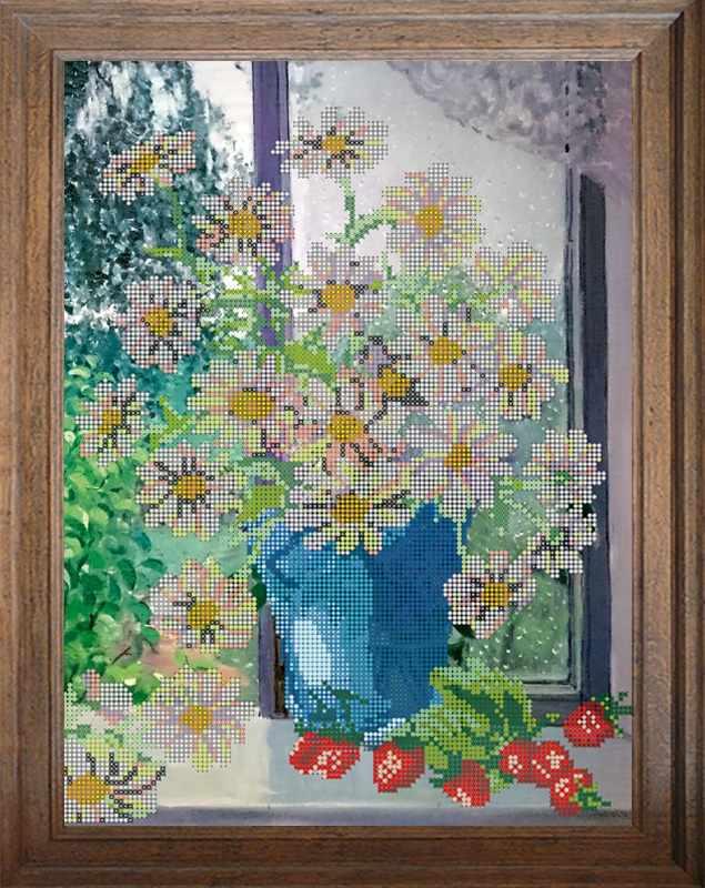 """В533 """"Ромашки у окна"""" - схема для вышивания (FeDi)"""