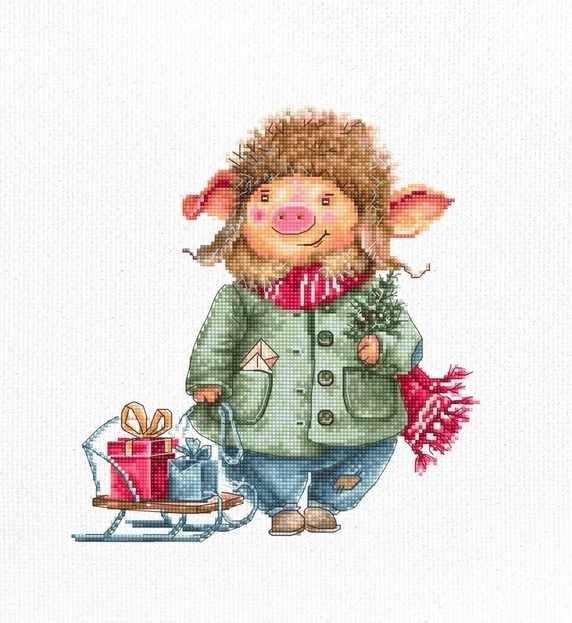 B1160 Рождественские свинка