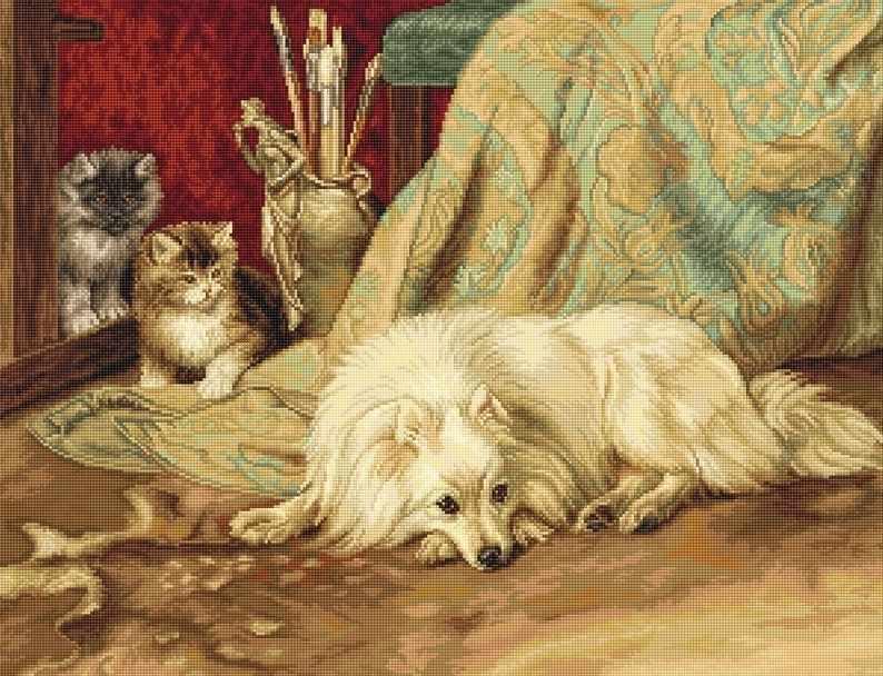 B0582 Собака и кошки (Luca-S)