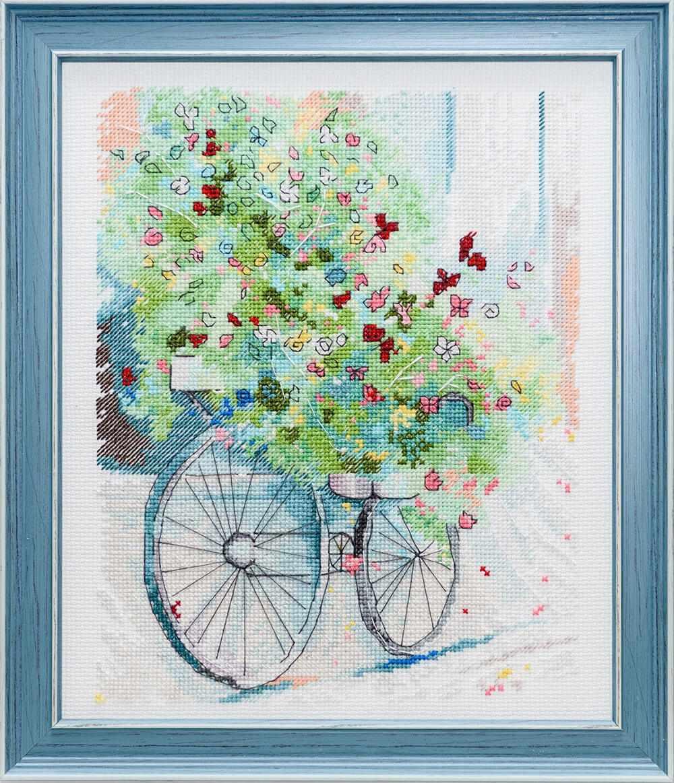 0023 Цветочный велосипед