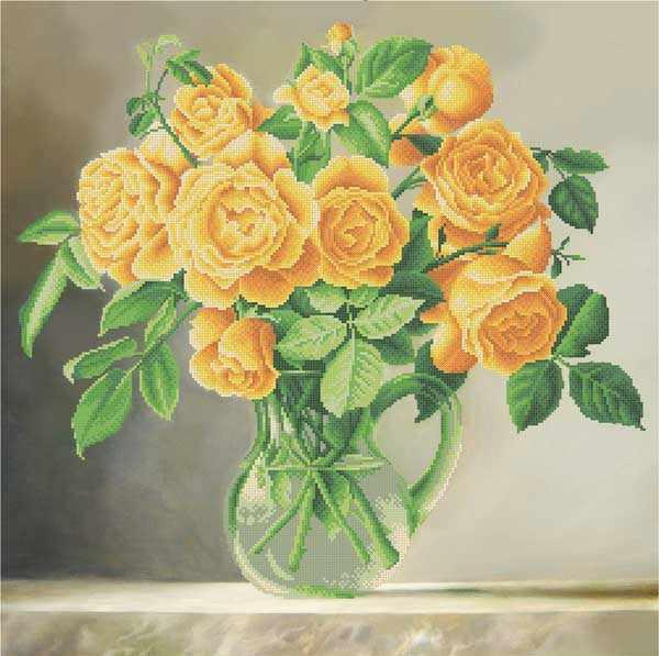 ММН-027 Желтые розы - схема для вышивания (MOSMARA)