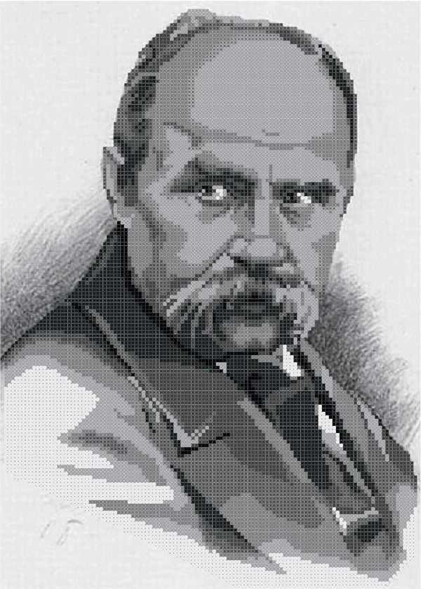 ММП-002  Портрет Шевченко Т.Г. ч\б - схема для вышивания (MOSMARA)