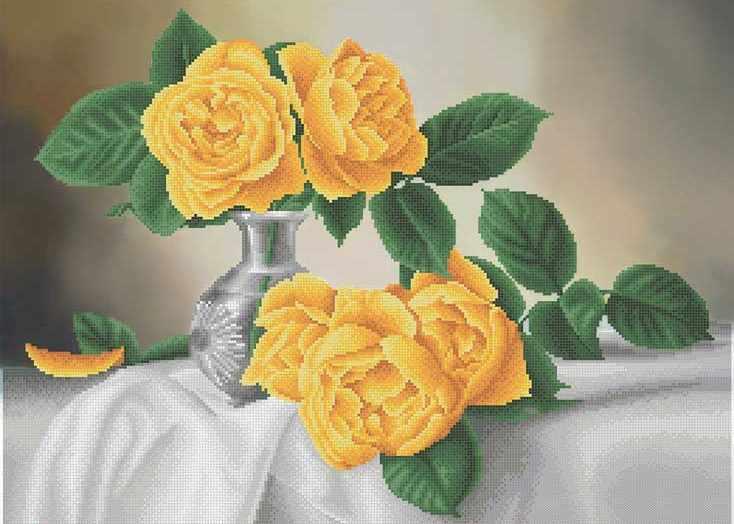 ММН-026  Солнечные розы - схема для вышивания (MOSMARA)