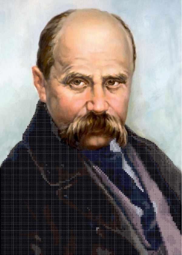 ММП-001  Портрет Шевченко Т.Г. - схема для вышивания (MOSMARA)