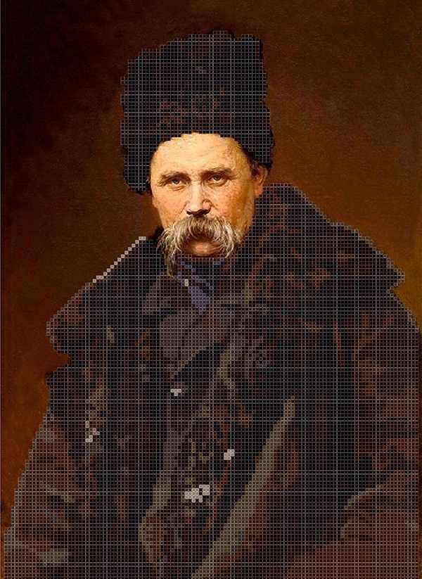 ММП-004 Портрет Шевченко Т.Г. №4 - схема для вышивания (MOSMARA)