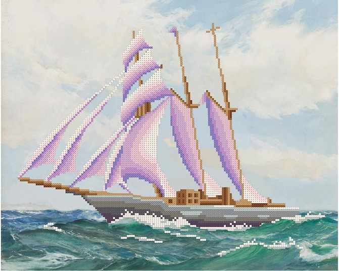МММР-005  Морская прогулка - схема для вышивания (MOSMARA)