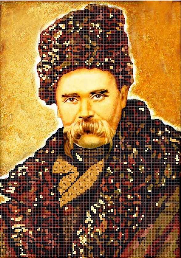 ММП-003  Портрет Шевченко Т.Г. №3 - схема для вышивания (MOSMARA)