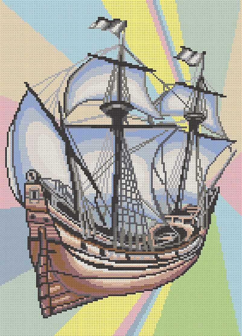 МММР-001  Корабль Меркурий - схема для вышивания (MOSMARA)