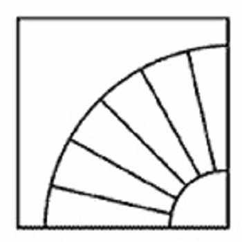 """0010801 Ткань для шитья по основе """"Веер большой"""" (115*110 см)"""