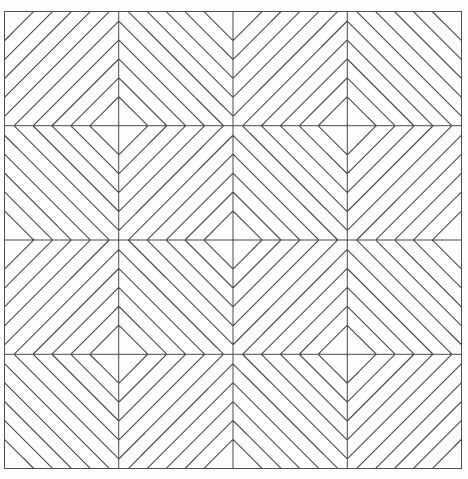 """0011301 Ткань для шитья по основе """"Полосы"""" (115*110 см)"""