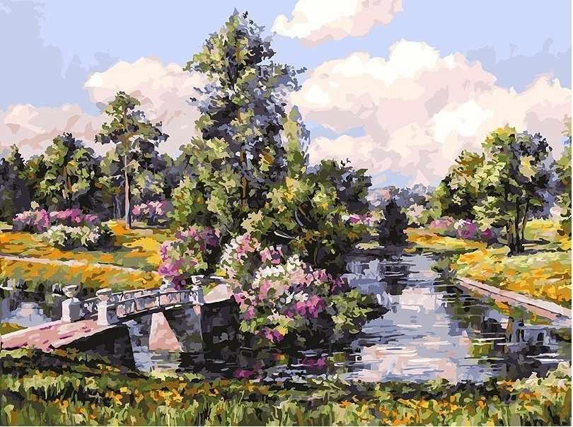 278-AS Весна в Павловском парке - раскраска (Белоснежка)