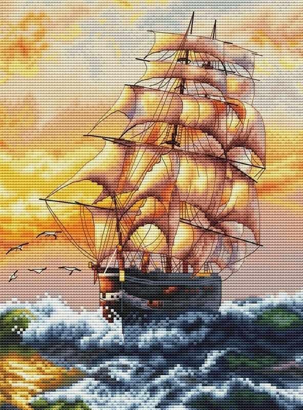 995-14 Под парусами (Белоснежка)