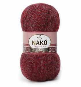 Пряжа Nako Angora Luks Цвет.21359 бордо мул.
