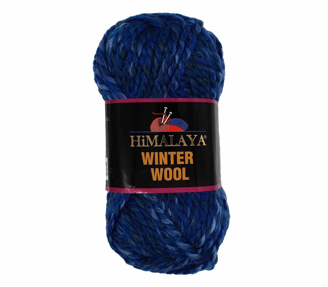 Пряжа Himalaya  Winter wool Цвет.18 син.мел.