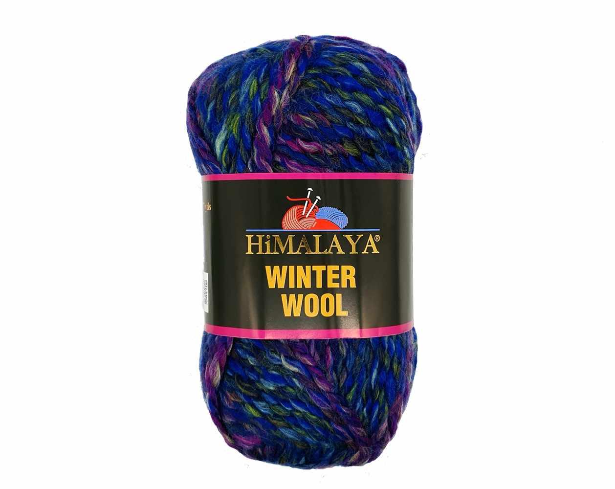 Пряжа Himalaya  Winter wool Цвет.11 сирен.бир.зелен.