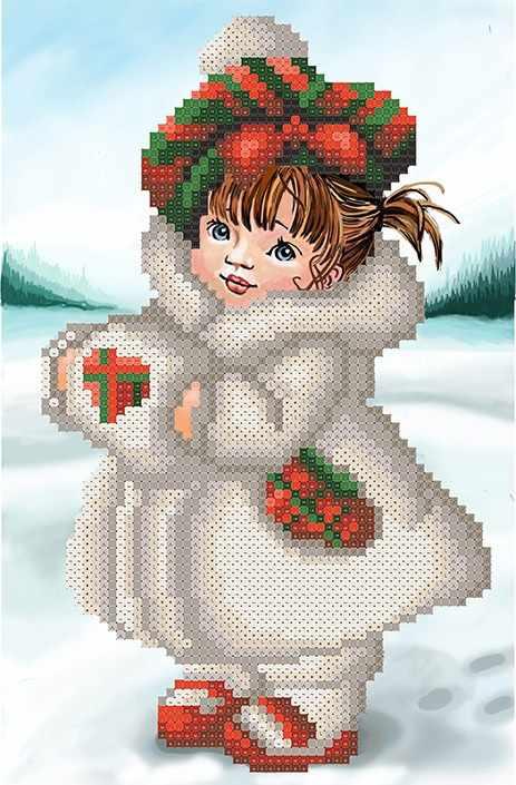 ММДС-002 Снегурочка - схема для вышивания (MOSMARA)