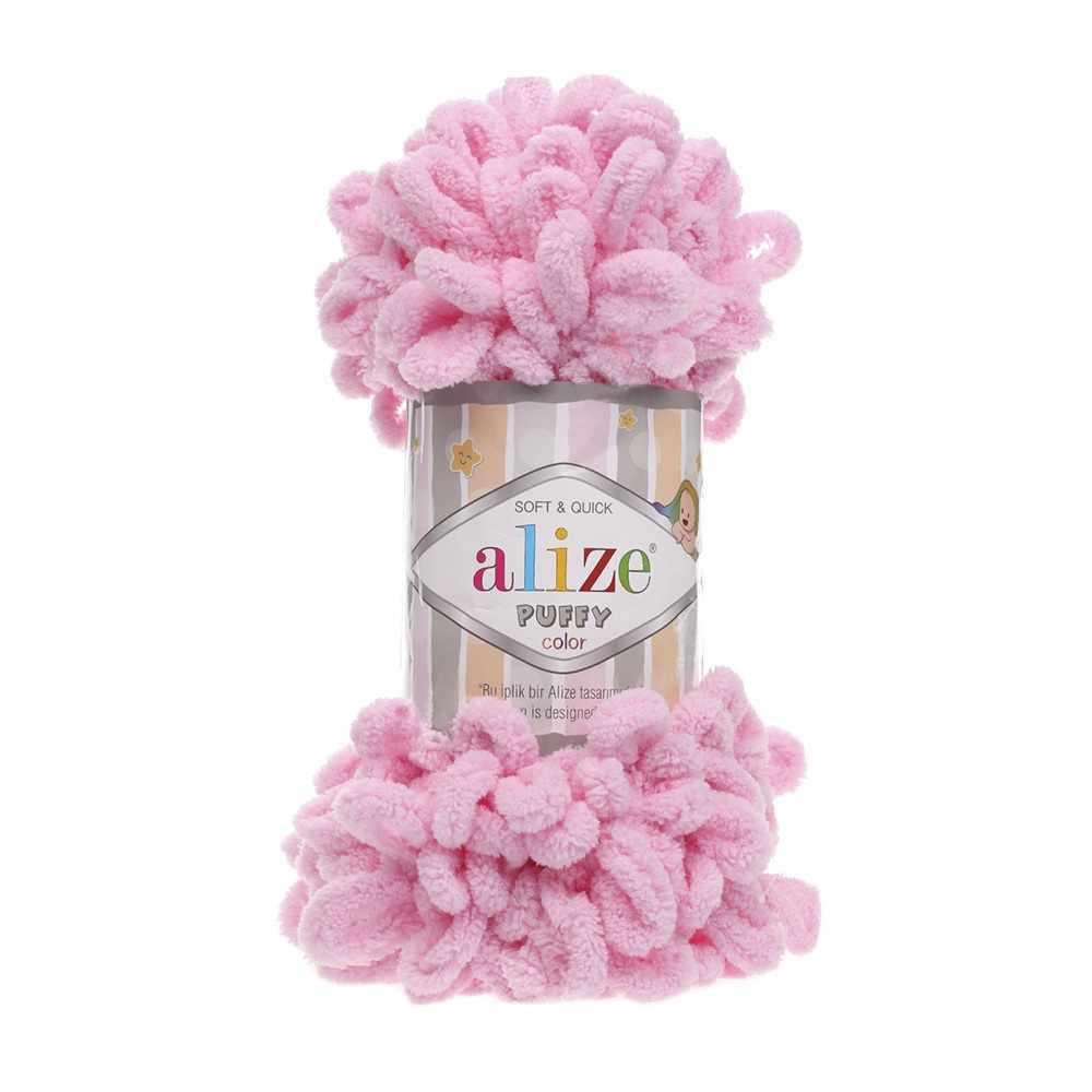 Пряжа Alize PUFFY Цвет.185 Ярко-розовый