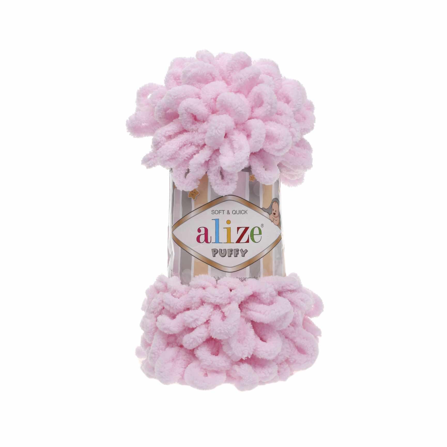 Пряжа Alize PUFFY Цвет.31 Нежно-розовый