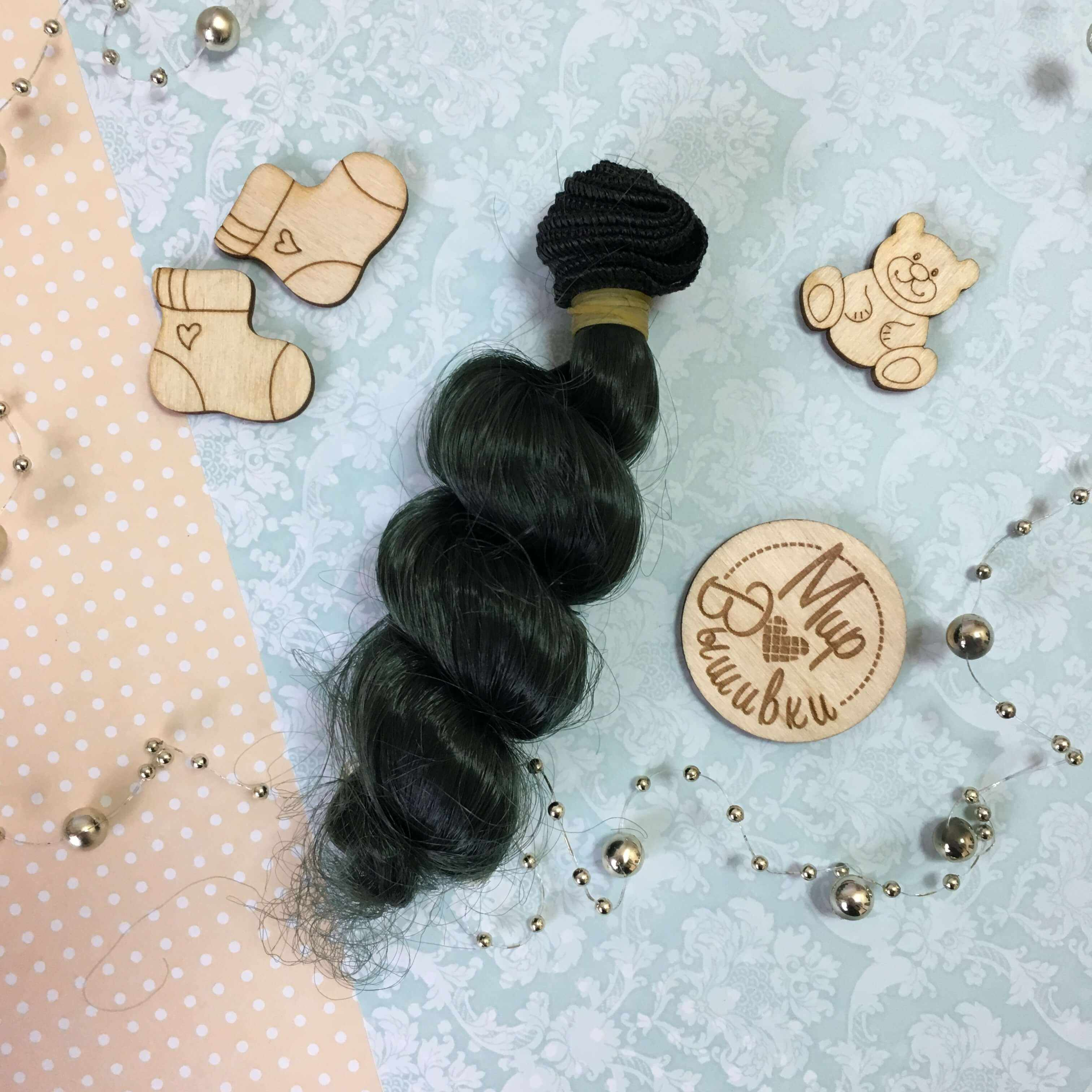 Волосы спиральки 2614 (зеленые)
