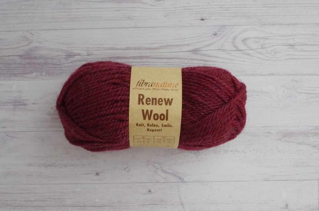 Пряжа Fibra Natura Renew Wool Цвет.113 Бордо