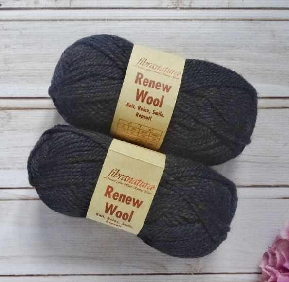 Пряжа Fibra Natura Renew Wool Цвет.112 черный