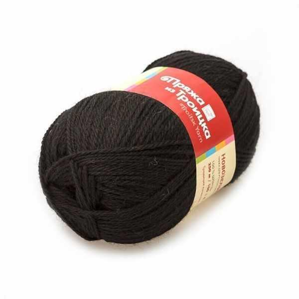 Пряжа Троицкая Новозеландская Цвет.0140 Черный