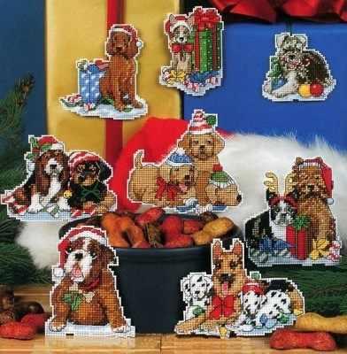 4465 Новогодние собаки