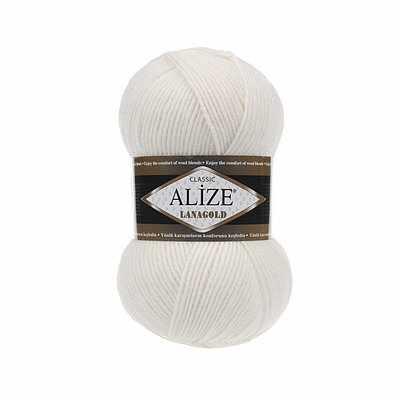 Пряжа Alize Lana Gold Цвет.450 Жемчужный