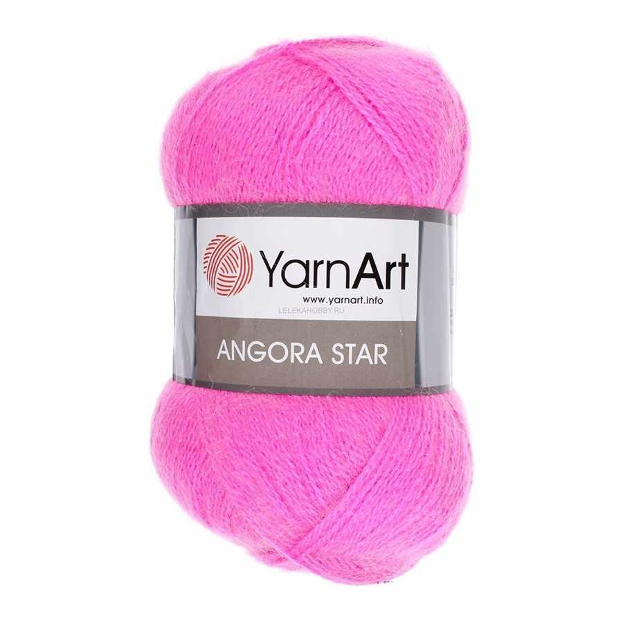 Пряжа YarnArt  Angora Star Цвет.174 Розовый неон