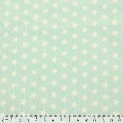 к548 белые звездочки мятный фон (50*80 см)