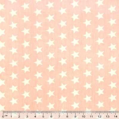 к545 белые звездочки розовый фон (50*80 см)