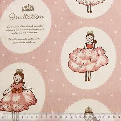к508 принцессы в кружочке розовый фон (50*80 см)