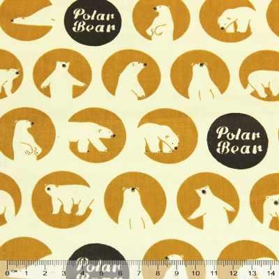 к391 белые медведи желтый круг (50*80 см)