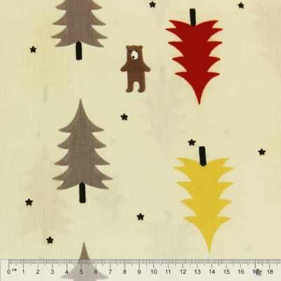 к325 елочки и мишки желтый лес (50*80 см)