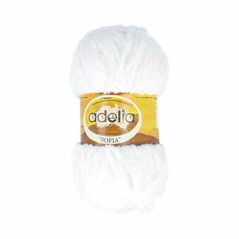 Пряжа Adelia Sofia 14 Белый