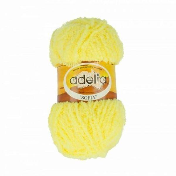 Пряжа Adelia Sofia 19 Ярко желтый
