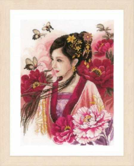 PN-0170199 Asian lady in pink